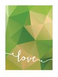 Geometric Love Greenbrown Poster di PaperFinch