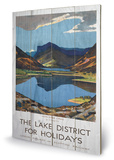 The Lake District For Holidays Wood Sign Treskilt