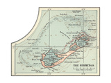 Inset Map of the Bermudas. Caribbean Islands Giclee Print by  Encyclopaedia Britannica