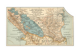 Map of Lake Nicaragua (C. 1900), Maps Giclée-Druck von  Encyclopaedia Britannica