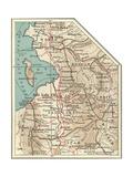 Map of the Salt Lake City Giclee-trykk av  Encyclopaedia Britannica