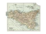 Plate 32. Inset Map of Sicily (Sicilia). Italy Gicléedruk van  Encyclopaedia Britannica