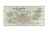 Plate 20. Inset Map of the Canary Islands (Spanish). Palma Gicléedruk van  Encyclopaedia Britannica