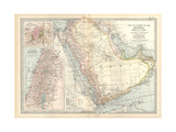 Plate 39. Map of Part of Arabia Giclée-tryk af  Encyclopaedia Britannica