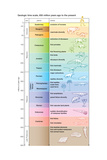 The geologic time scale from 700,000,000 years ago to the present Fotografia por  Encyclopaedia Britannica