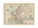 Plate 2. Map of Europe Giclee Print by  Encyclopaedia Britannica