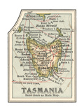 Plate 50. Inset Map of Tasmania. Australia Giclée-Druck von  Encyclopaedia Britannica