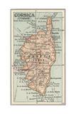 Plate 18. Inset Map of Corsica (Corse). Europe Giclee-trykk av  Encyclopaedia Britannica