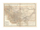 Plate 107. Map of Montana. United States Giclee Print by  Encyclopaedia Britannica