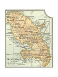Plate 118. Inset Map of Martinique (French) Giclee Print by  Encyclopaedia Britannica