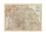Plate 7. Map of England. Section II. Yorkshire Giclee Print by  Encyclopaedia Britannica