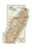 Inset Map of Madagascar and Comoro Islands. Africa Giclée-Druck von  Encyclopaedia Britannica