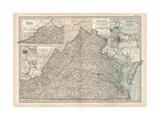 Plate 76. Map of Virginia. United States. Inset Maps of Western Part of Virginia Gicléedruk van  Encyclopaedia Britannica