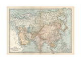 Map of Asia, with Special Reference to Siberia and Central Asia Giclee Print by  Encyclopaedia Britannica