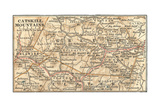 Inset Map of the Catskill Mountains, New York Giclee Print by  Encyclopaedia Britannica