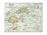 Inset Map of Fiji Islands (British). South Pacific. Oceania Giclée-Druck von  Encyclopaedia Britannica