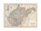 Plate 77. Map of West Virginia. United States Gicléedruk van  Encyclopaedia Britannica