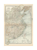 Map of China, Eastern Part Giclee Print by  Encyclopaedia Britannica