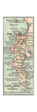 Inset Map of Cape Town and Vicinity. South Africa Giclee Print by  Encyclopaedia Britannica