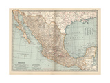 Plate 119. Map of Mexico, 1902. Atlas, Maps Giclée-Druck von  Encyclopaedia Britannica