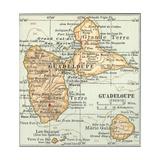 Plate 118. Inset Map of Guadeloupe (French) Impressão giclée por  Encyclopaedia Britannica