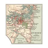 Map of Sydney (C. 1900), Maps Giclée-Druck von  Encyclopaedia Britannica
