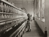Sadie Pfeifer, a Cotton Mill Spinner, Lancaster, South Carolina, 1908 Premium Photographic Print by Lewis Wickes Hine