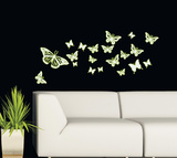Papillons phospho Autocollant mural