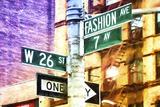 Fashion Avenue Signs Lámina giclée por Philippe Hugonnard