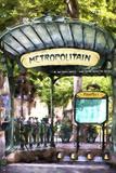 Metropolitain Abbesses Montmartre Reproduction procédé giclée par Philippe Hugonnard