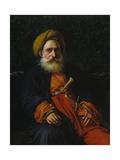 Portrait of the Katchef Dahouth, Christian Mameluke, 1804 Giclée-tryk af Anne-Louis Girodet de Roussy-Trioson