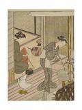 Returning Sails of the Towel Rack (Tenugui-Kake No Kihan), C.1766 Giclee Print by Suzuki Harunobu