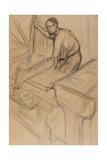 Study, C.1893 Lámina giclée por Henri de Toulouse-Lautrec
