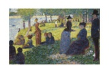 Oil Sketch for La Grande Jatte, 1884 Gicléedruk van Georges Seurat