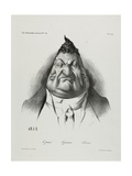 The Past, the Present, the Future, Plate 349, 1834 Lámina giclée por Honore Daumier