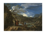 Polycrates and the Fisherman, C.1664 Giclee Print by Salvator Rosa