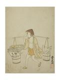 A Water Vendor, 1765 Giclee Print by Suzuki Harunobu