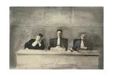 The Three Judges, 1858-60 Reproduction procédé giclée par Honore Daumier