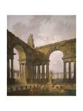 The Landing Place, 1787-88 Reproduction procédé giclée par Hubert Robert