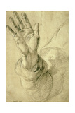 Upraised Right Hand, with Palm Facing Outward: Study for Saint Peter, 1518-20 Reproduction procédé giclée par  Raphael