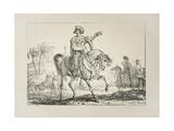 Chief Mameluk, C.1817 Giclée-Druck von Antoine Charles Horace Vernet