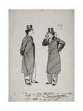 Oscar Wilde and Whistler, 1894 Giclee Print by Phil May