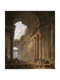 The Old Temple, 1787-88 Reproduction procédé giclée par Hubert Robert