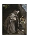 Saint Francis Kneeling in Meditation, 1595-1600 Lámina giclée por  El Greco