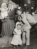 Italian Family Seeking Lost Baggage, Ellis Island, 1905 Photographic Print by Lewis Wickes Hine