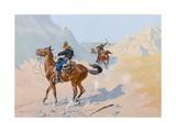 The Advance-Guard, or the Military Sacrifice (The Ambush), 1890 Giclee-trykk av Frederic Remington