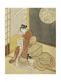 The Love Letter, 1765 Giclee Print by Suzuki Harunobu