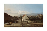 View of Pirna with the Fortress of Sonnenstein, 1755-65 Reproduction procédé giclée par Bernardo Bellotto