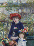 Two Sisters (On the Terrace), 1881 Giclée-tryk af Pierre-Auguste Renoir