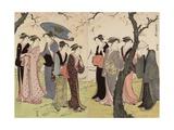 The Third Month (Sangatsu), from the Series Twelve Months in the South (Minami Juni Ko), C.1784 Giclee Print by Torii Kiyonaga